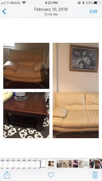 Italian leather Sofa , Chair and coffetable