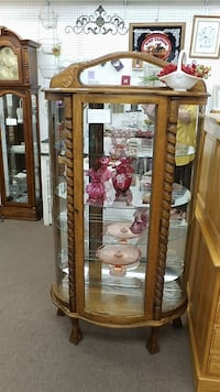 Bow Front Curio Cabinet Mesa