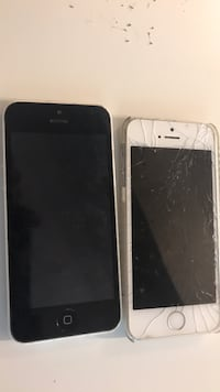 space gray iPhone 5s with white iPhone case Falls Church, 22044