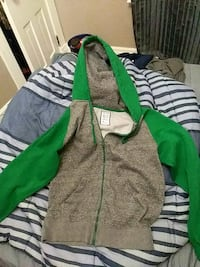 green and gray zip-up hoodie Kitchener, N2H 4T6