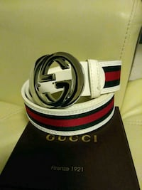 white Gucci leather belt with box Medford, 02155