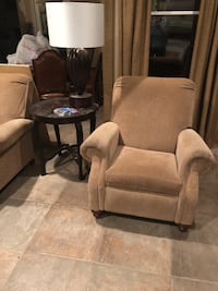 brown fabric padded sofa chair Prairieville, 70769