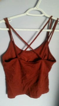 Burgundy tank top with strappy back  Ottawa, K0A 2E0