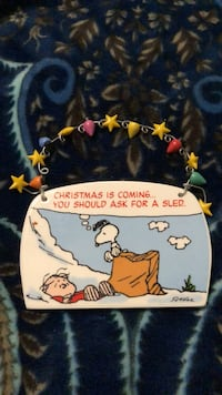 A Peanut's Christmas Hanging Plaque. A Charlie Brown book Fayetteville, 28306