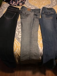 two blue and black denim jeans Pelham, 35124