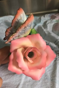 Pink flower and butterfly night light works