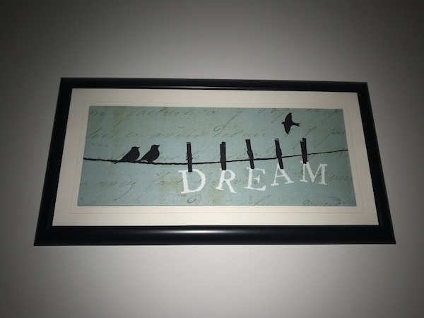 """Dream"" wall art"