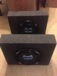 A pair of brand new ssl 1200 watts speakers