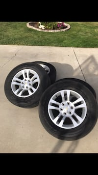 Four 18' Chevy rims and tires  Selma, 93662