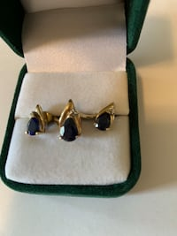 Birthstone ring and earrings. Ring size 7. Blue sapphire with diamond Dumfries, 22026