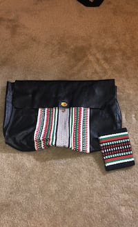 Special clutch bag with wool and small wallet