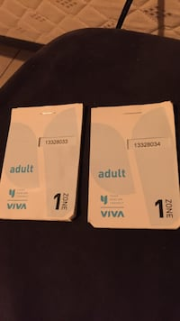 YRT/VIVA TICKETS $70/2 Full Books Toronto, M4X