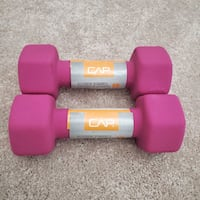 NEW CAP Hex Neoprene 5 lb Pound Set of Two Dumbbell Weights