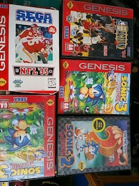 EMPTY SEGA GENESIS VIDEO GAME CASES- SONIC ,NFL + Pickering, L1V 3V7