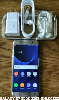 Galaxy S7 Edge 32GB GSM UNLOCKED + Accessories  Arlington
