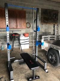 Squat rack and bench with bar Jefferson, 21755