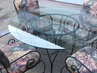 Iron & Glass Breakfast or outdoor   table with chairs Combine, 75159