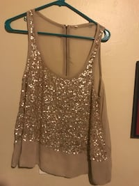 Sparkly sheer top