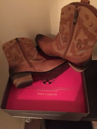 Vince Cumuto Leather Cowboy Boots