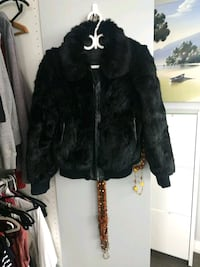 Black rabbit fur jacket Toronto, M4C 1J8