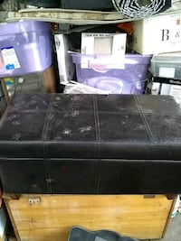 black and purple wooden bed frame Penticton, V2A 8X1