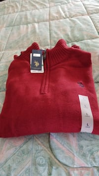 red and white polo shirt Commack, 11725