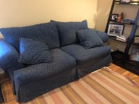 Navy Sofa - Overstuffed style, Comfortable and attractive  Bethesda, 20816