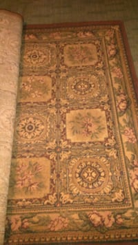 brown and black floral area rug Nedrow, 13120