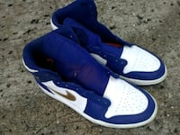 pair of blue-and-white Nike sneakers Houston, 77024