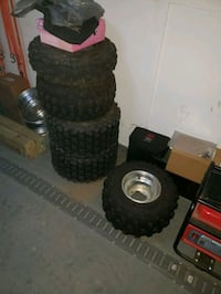 ATV  tires and I rim.with tire