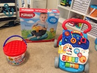 Playskool toy box and multi-colored Vtech activity walker Virginia Beach, 23451