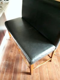 black leather padded folding chair Edmonton, T5H 4E3