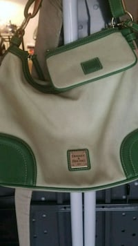 green and white leather crossbody bag Houston, 77072