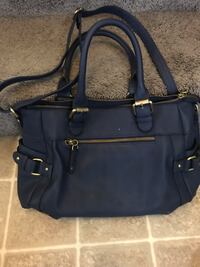 black leather 2-way handbag Edmonton, T5Z