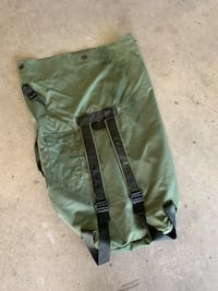 Army duffel bag with shoulder straps