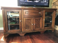 brown wooden TV stand with flat screen television La Mesa, 91941