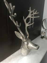Trendy silver deer wall decoration
