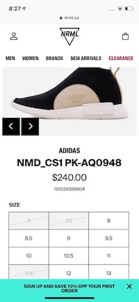 Adidas Nmd CS1(City Sock)lux DS US9.5 Steal!! Great Christmas Gift Ottawa, K2B 6G4