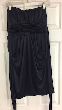 Women's strapless dress, dark purple Brea, 92821