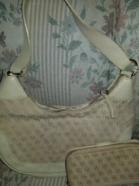 monogrammed white Dooney & Bourke leather hobo bag Springfield, 65802