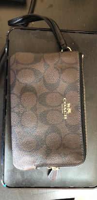 brown monogrammed Coach leather wallet Boca Raton, 33487