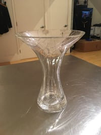 Modern Lead Crystal Vase with Crackle finish from Czech Republic San Francisco