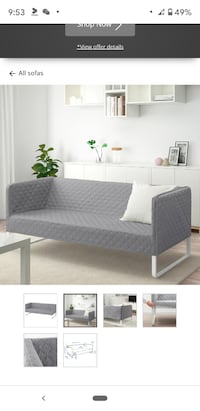 KNOPPARPSofa, Knisa light gray