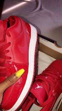 Red and White Air Jordan 1 Low's