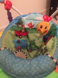 green and blue Animal print bouncer