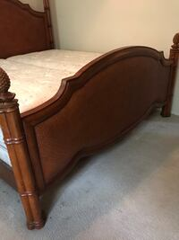 brown wooden bed headboard and footboard Kansas City, 66103