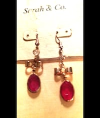 POSSIBLE 14 K GOLD & RUBY STONE VINTAGE EARRINGS Melbourne, 32934