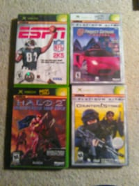 four assorted Xbox 360 game cases Rochester, 14620
