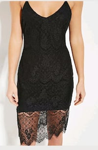 new w tag MED F21 black spaghetti strap lace dress Fairfax, 22030