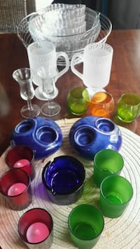assorted coloured glass items Lions Bay, V0N